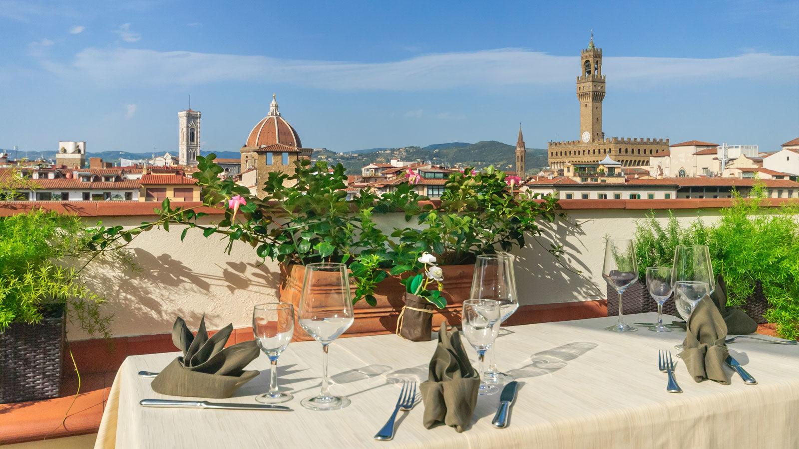 5 alberghi panoramici a Firenze: Hotel Pitti Palace Pontevecchio Firenze (Toscana, Italia)