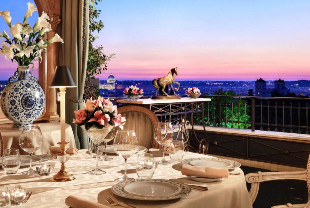 Ristorante Mirabelle, Roof-garden Hotel Splendide Royal Roma (Lazio, Italia)