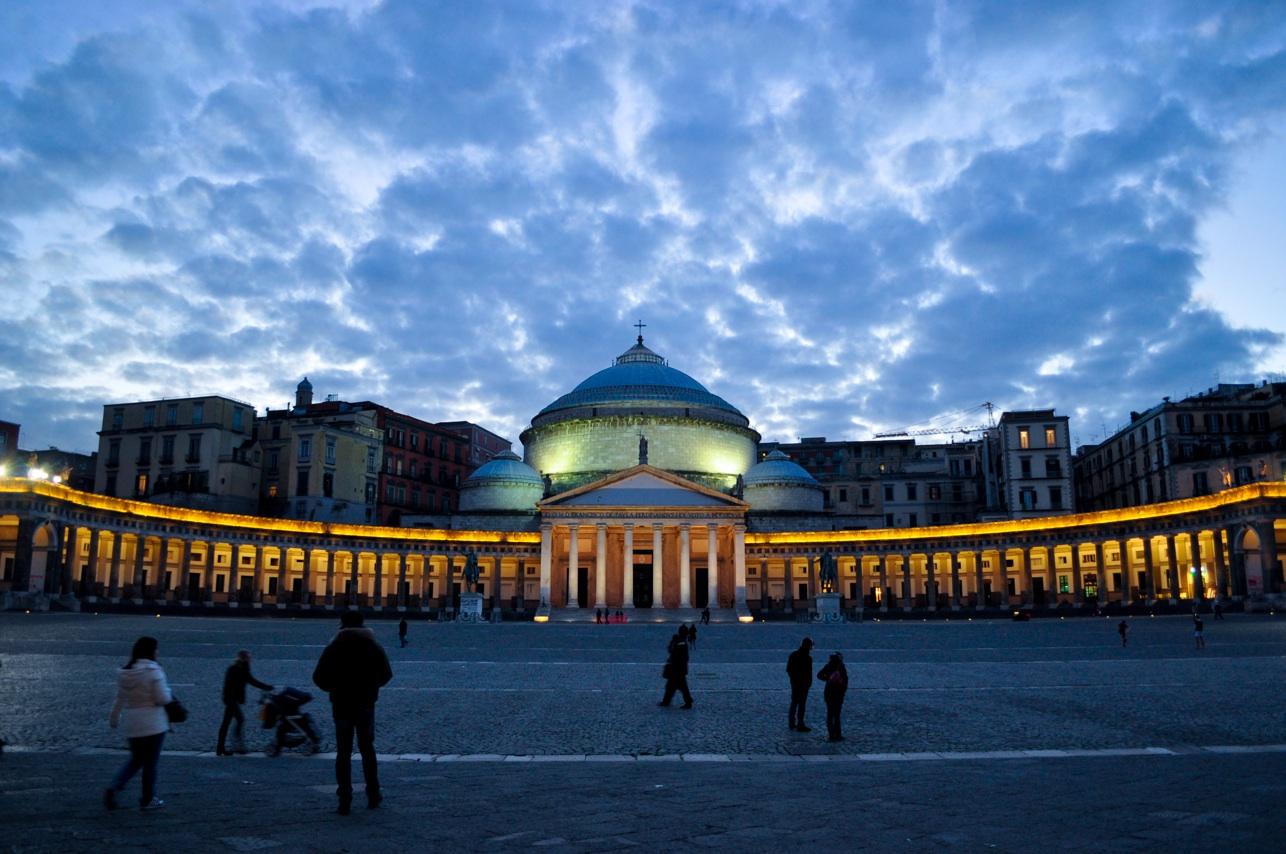 Piazza Plebiscito Napoli Italia