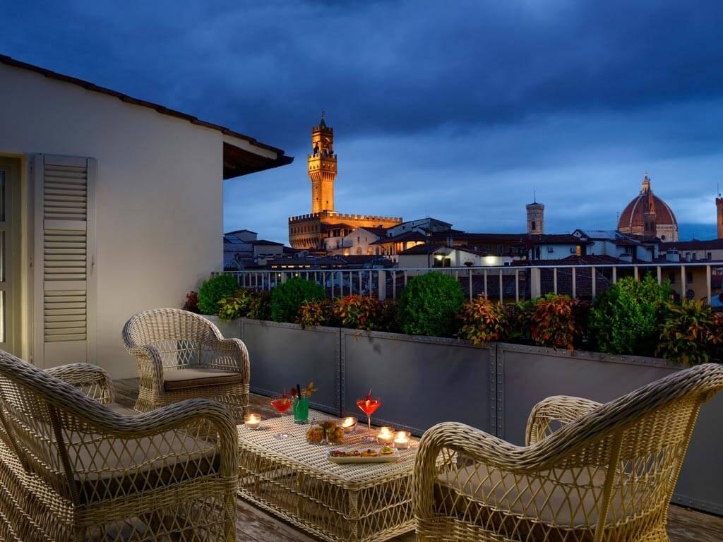 Terrazza panoramica Hotel Balestri Firenze