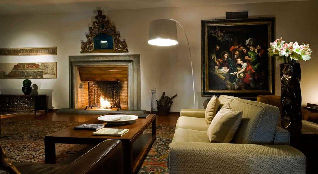 Lounge del Park Hotel ai Cappuccini Gubbio (Umbria)