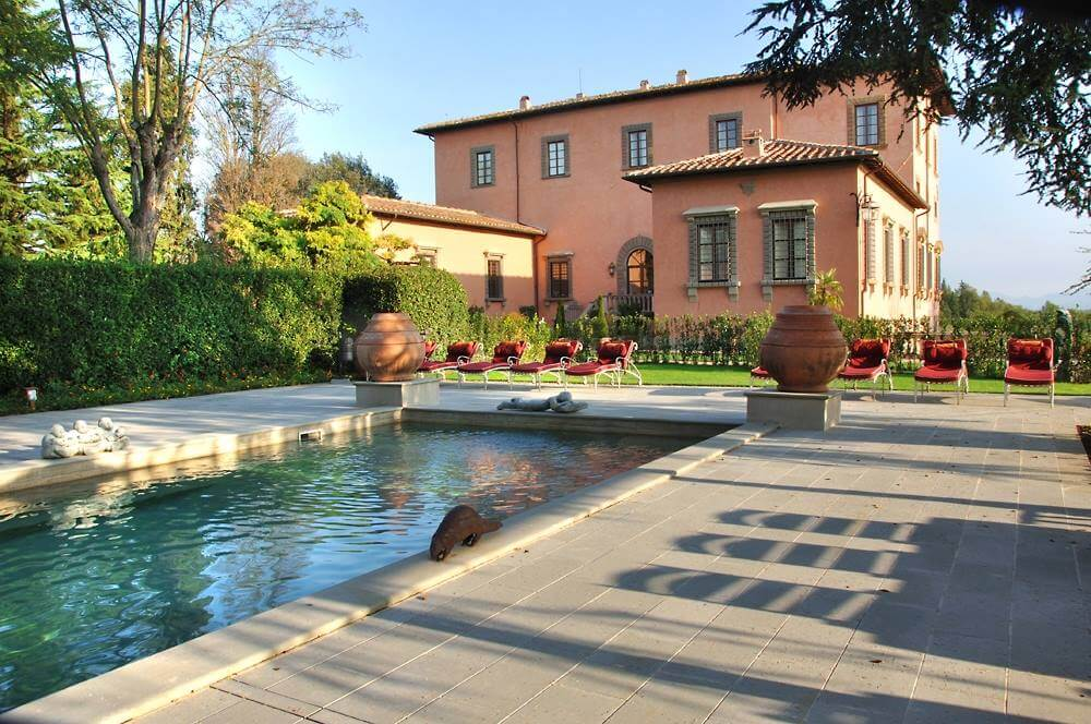 Piscina Villa Mangiacane (palazzo Machiavelli, Toscana)