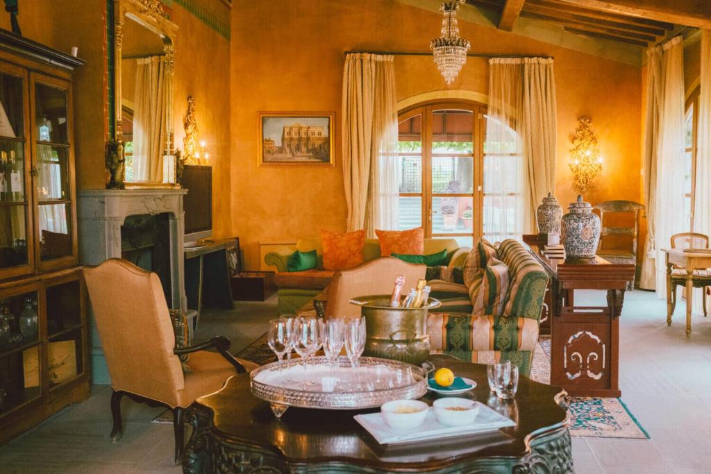 Reception Villa Mangiacane Hotel di charme a 12 km a sud di Firenze (Toscana)